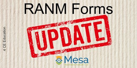 NMAR Forms Update (Core Elective) tickets