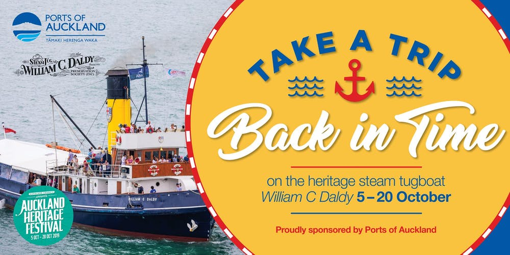 Ports of Auckland Heritage Tugboat Sailings 2019 Tickets