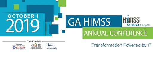 Georgia Chapter HiMSS 2019 Annual Conference Sponsors and Exhibitors