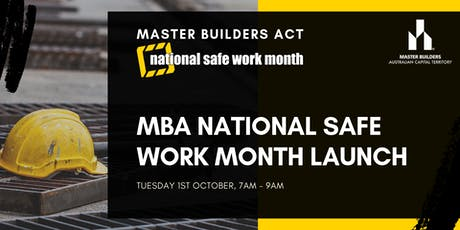 MBA National Safe Work Month Launch tickets
