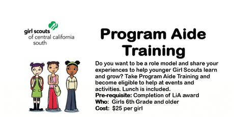 Program Aide Core Training - Tulare  tickets