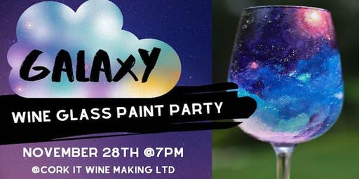 Galaxy Wine Glass Paint Party @ Cork It Wine Making