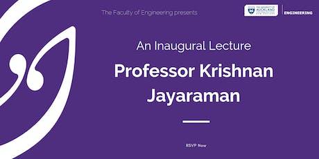 Inaugural Lecture: Krishnan Jayaraman tickets