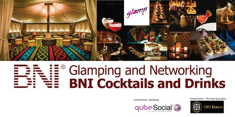 BNI Cross Chapter Glamping Cocktails and Drinks tickets