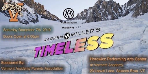 Volkswagen presents Warren Miller - Timeless at Vermont Academy