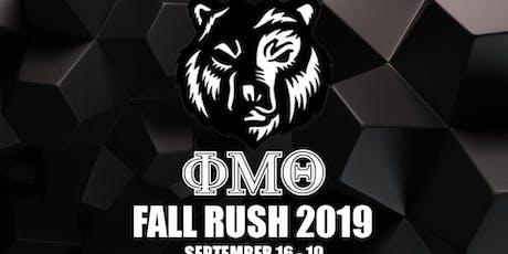 ΦΜΘ Rush Week tickets
