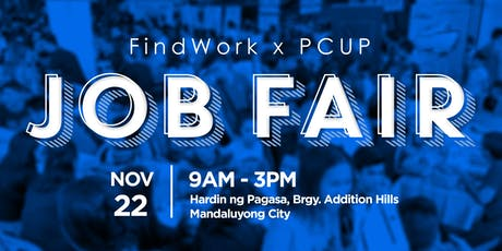 FindWork x PCUP Caravan Job Fair (Mandaluyong City) tickets