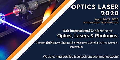 16th International Conference on Optics, Lasers & Photonics tickets