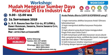 Workshop: Mudah Mengatur Sumber Daya Manusia Di Era Industri 4.0 tickets