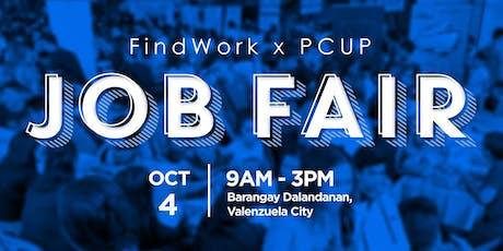 FindWork x PCUP Caravan Job Fair (Valenzuela City) tickets