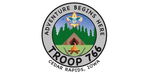 Troop 766 CR Optimist Club Avenue of the Flags - Veteran's Day (11/11/2019)