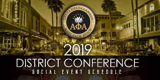 2019 AIA District Conference - Social Schedule