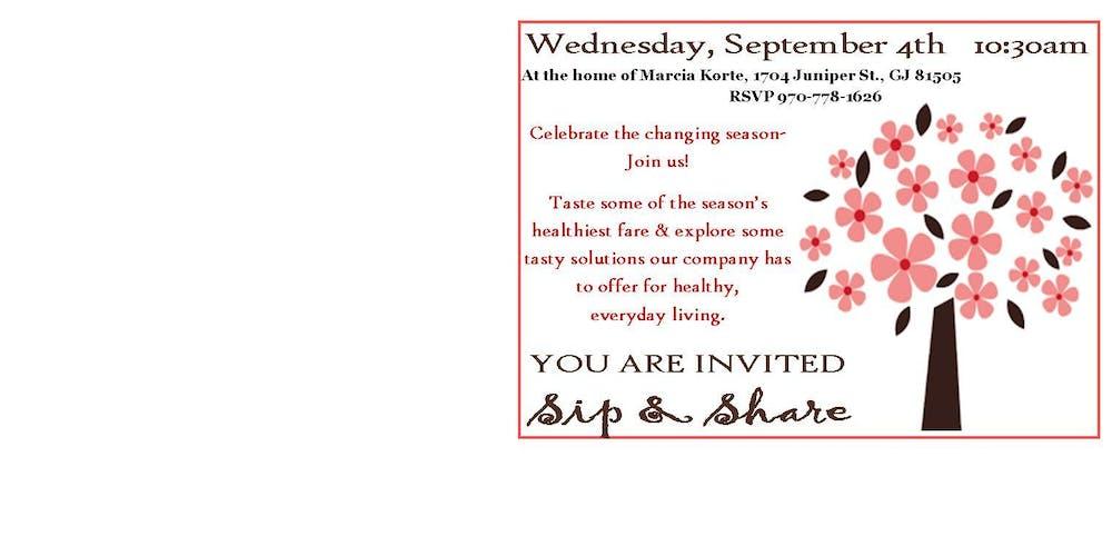 Sip & Share Tickets, Wed, Sep 4, 2019 at 10:30 AM | Eventbrite