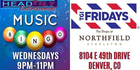 Music Bingo at TGI Fridays Northfield - Denver, CO tickets