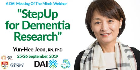"""DAI """"A Meeting Of The Minds"""" Webinar: StepUp For Dementia Research,  September 25/26, 2019 tickets"""