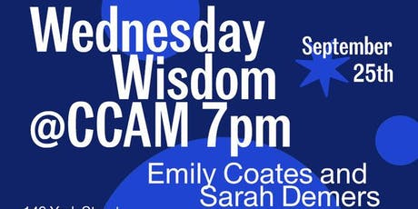 CCAM Wednesday Wisdom with Emily Coates and Sarah Demers: Physics and Dance tickets