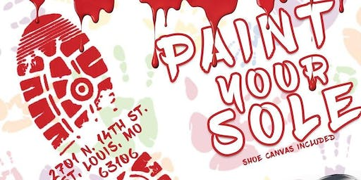 "ShoeflySTL Presents ""Paint Your Sole"""