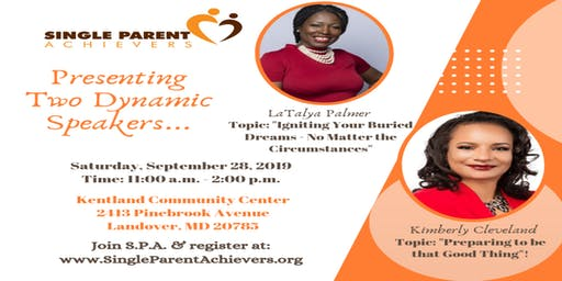 Single Parent Achievers September Monthly Meeting