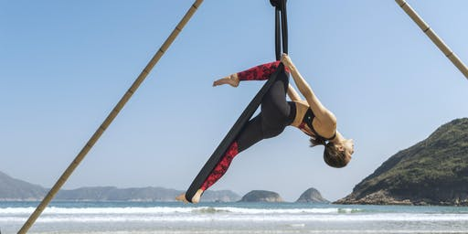 Beach Aerial Yoga Workshop - beginners (October)