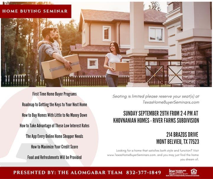 Home Buyer Seminar in Mont Belvieu Tickets, Sun, Sep 29