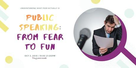 Public Speaking: From Fear to Fun tickets