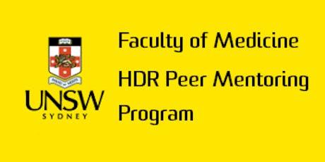 2019 UNSW Medicine HDR Peer Mentoring Program - Mentee Training Workshop  tickets