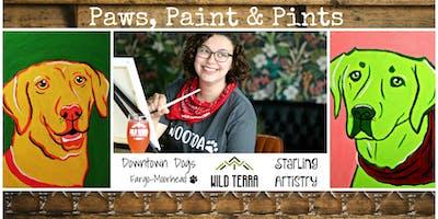 Paws, Paint & Pints 10/14