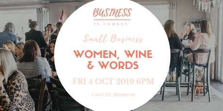 Women, Wine & Words | Small Business Networking tickets