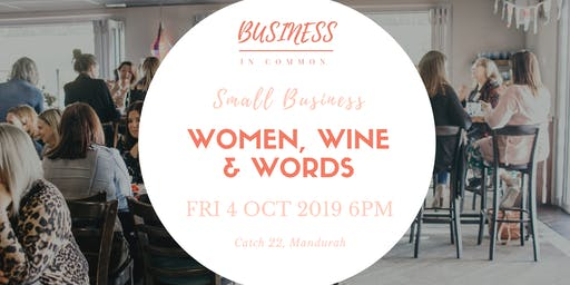 Women, Wine & Words | Small Business Networking