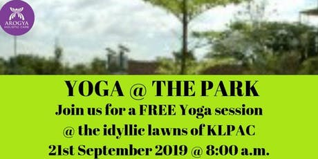 FREE Yoga@thePark at KLPAC on 21st September 2019 tickets