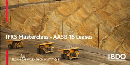 AASB 16 Leases Masterclass 2019 - 6 November - Natural Resources Focus