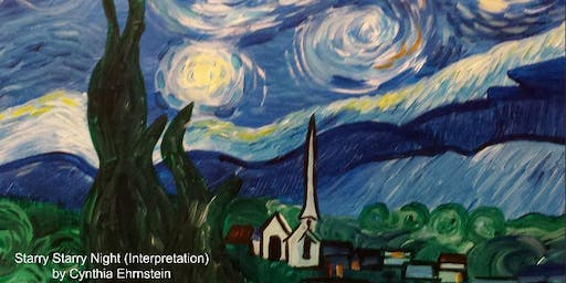 Paint Wine Denver CO Starry Night Fri Nov 15th 6:30pm $35