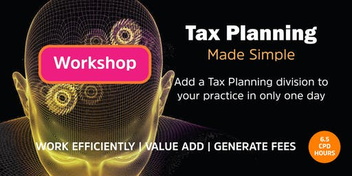 Tax Planning Made Simple Workshop | Perth - 18 October 2019