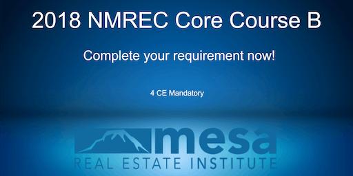 ***SATURDAY CORE COURSE*** 2018 NMREC Core Course B**Makeup Class**