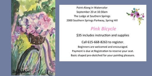 Water Colors Painting Class with Susan Jones