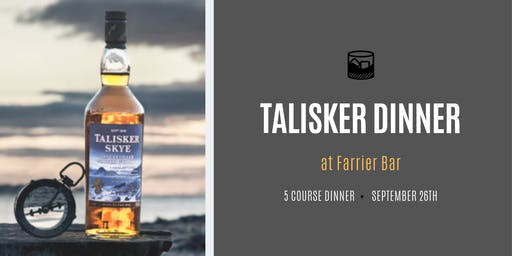 Talisker Degustation Dinner