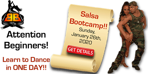 Salsa Bootcamp for Beginners! Sunday, January 26, 2020