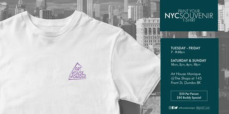 Sip & Paint NYC Souvenir T Shirt Sunday tickets