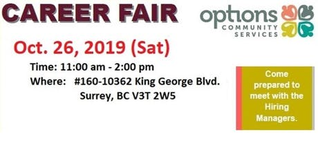 Options Career Fair 2019 tickets
