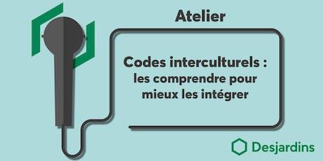 Atelier - Codes interculturels : les comprendre pour mieux s'intégrer billets