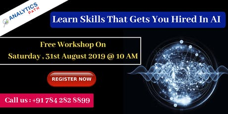 Attend Free AI Workshop By Analytics Path On 31st August, 10 AM, Hyderabad tickets