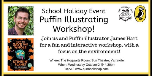 School Holiday Event: Puffin Illustrating Workshop with James Hart