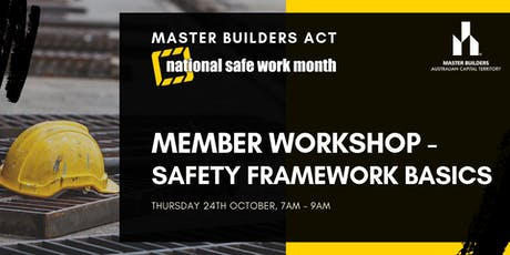MBA Member Workshop - Safety Framework Basics tickets