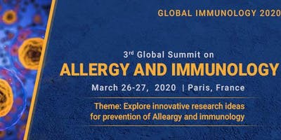 3rd Global Summit on Allergy and Immunology