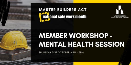 MBA Member Workshop - Mental Health