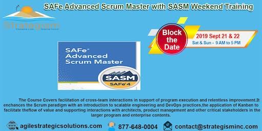 SAFe® 4.0 Advanced Scrum Master & SASM weekend Training in Fremont-Sept 21,22-2019