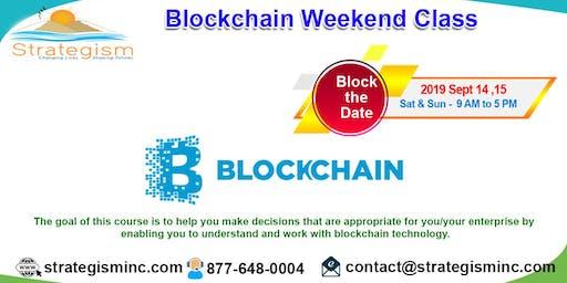 Blockchain weekend training in Fremont-Sept 14,15,2019