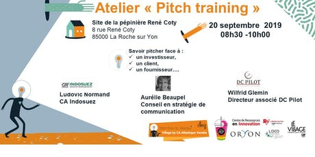 Atelier Pitch training 20 sept 2019 billets