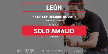 Monólogo Solo Amalio en Pause&Play León Plaza entradas