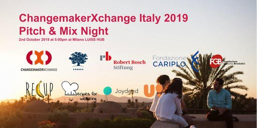 ChangemakerXchange Italy 2019 (Climate Action) - Pitch & Mix